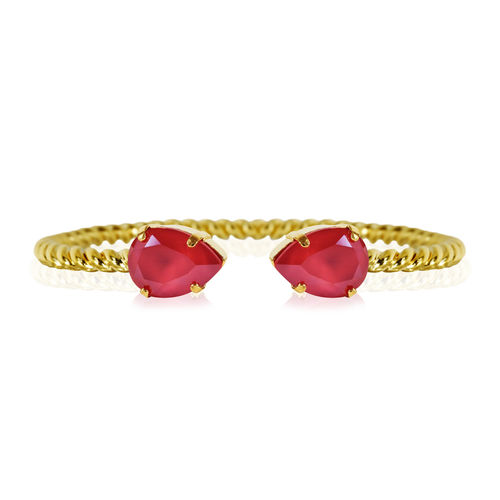 Mini Drop Bracelet Raspberry Red