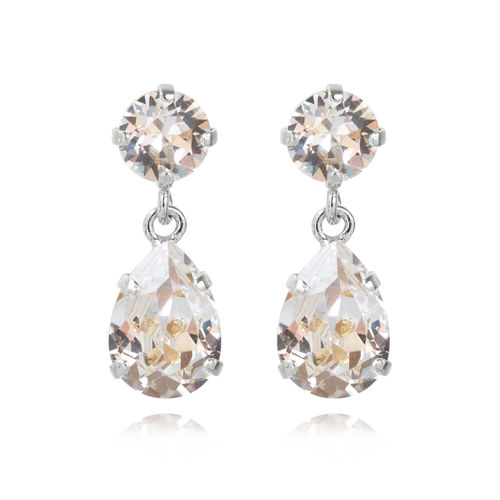 Mini Drop Earrings Crystal Rhodium
