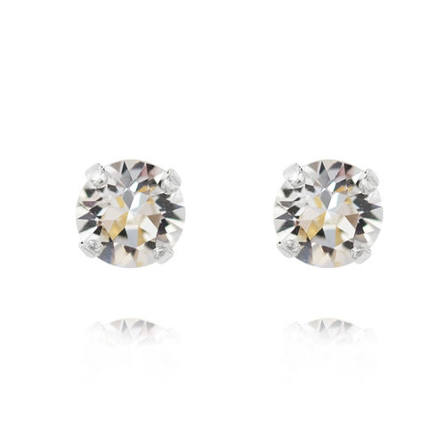Classic Stud Earrings Crystal Rhodium