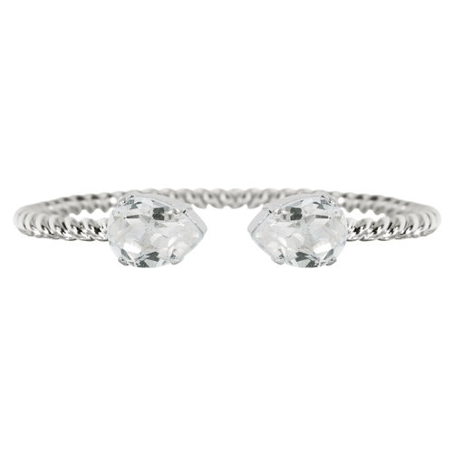 Mini Drop Bracelet Crystal Rhodium