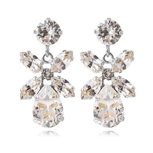 Mini Dione Earrings Crystal Rhodium