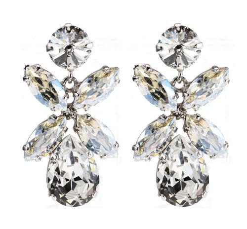 Dione Earrings Crystal Rhodium