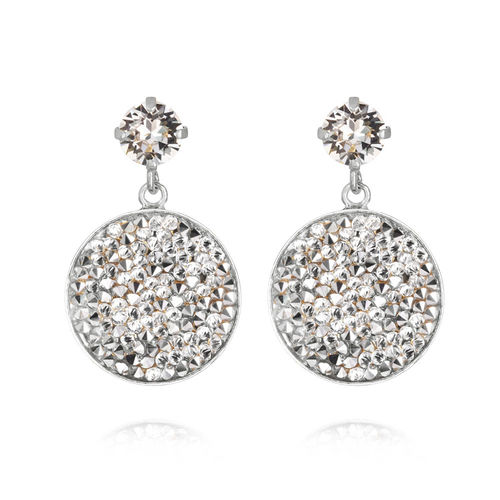 Chloe Rocks Earrings Crystal Rhodium