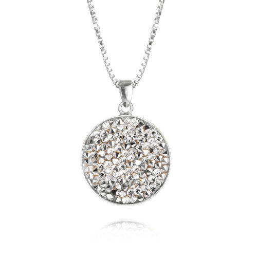 Chloe Rocks Necklace Crystal Rhodium